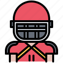 american, football, man, protection, rugby, sport, uniform icon