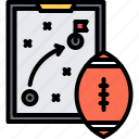 american, ball, football, rugby, sport, strategy, tablet icon