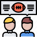american, discussion, football, match, rugby, sport, talk icon