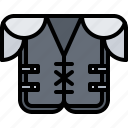 american, football, protection, rugby, sport, torso, uniform icon