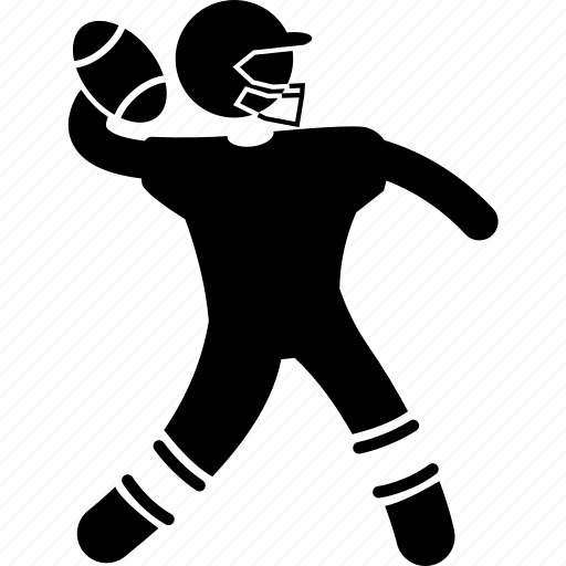 american, football, player, throw, toss icon