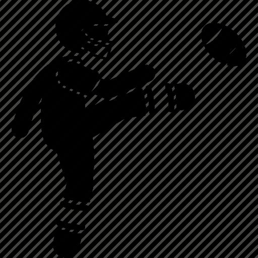 american, football, kick, player icon