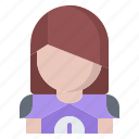 american, football, protection, rugby, sport, uniform, woman