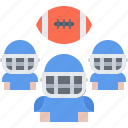 american, ball, football, player, rugby, sport, team icon