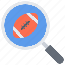 american, ball, football, match, rugby, search, sport icon
