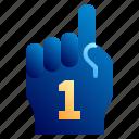 american, foam hand, football, football club, glove, soccer, sport icon