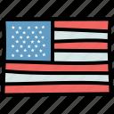 flag, july 4, united states, usa icon
