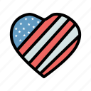 heart, july 4, patriotism, united states icon