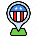 america, country, location, map, pin, usa
