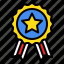 america, award, badge, prize, star, winner