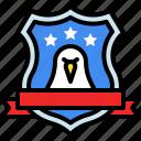 america, award, badge, eagle, shield, usa