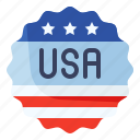 america, badge, country, emblem, flag