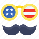 accessories, america, beard, disguise, funny, glasses