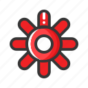configuration, bullet, setting, gear, ammunition, game, ammo icon