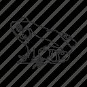 american bullfrog, amphibian, bullfrog, frog, toad icon