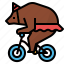 animal, bear, carnival, circus, zoo icon