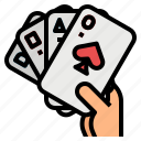card, casino, gambling, gaming, poker icon