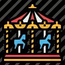 amusement, carnival, carousel, circus, fun, park icon
