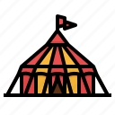 circus, entertainment, leisure, tent icon