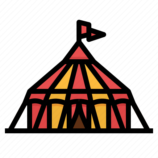 circus, entertainment, leisure, tent icon