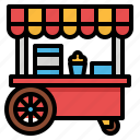cart, dog, food, hot, shop, stand icon