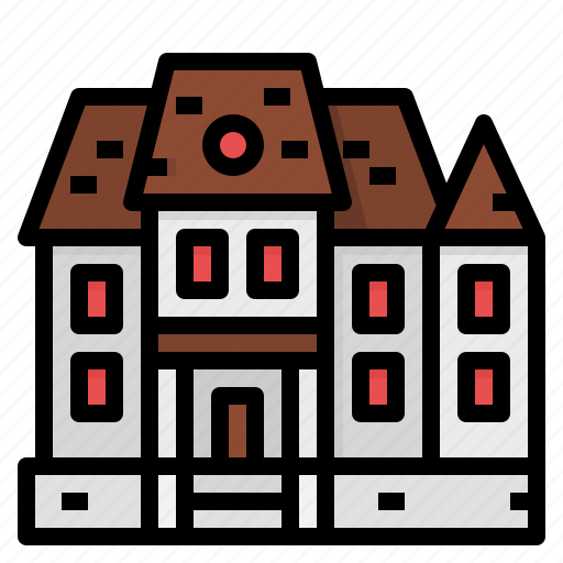 castle, fortress, haunted, house, phantom icon