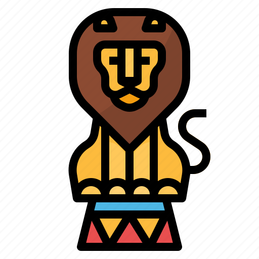 animal, carnival, circus, lion, zoo icon