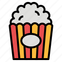 cinema, corn, film, popcorn, snack icon