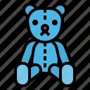 bear, childhood, fluffy, puppet, teddy icon