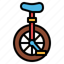 bike, circus, mono, unicycle icon
