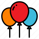 air, amusement, balloon, park, party icon