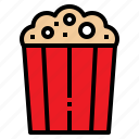 corn, food, packaging, popcorn, snack icon