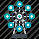 amusement, ferris, park, theme, wheel icon