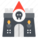 amusement, castle, ghost, horror, house icon