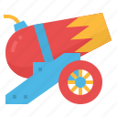 artillery, cannon, fire, shoot, weapons icon