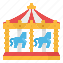 amusement, carnival, carousel, circus, fun, park icon