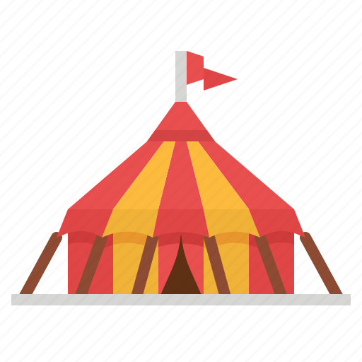 Circus, entertainment, leisure, tent icon - Download on Iconfinder