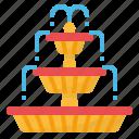 fountain, gardening, household, park icon