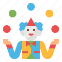 circus, entertainment, fun, hands, juggling icon