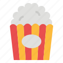 cinema, corn, film, popcorn, snack icon