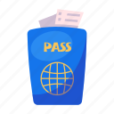 document, flight, passport, ticket, travel, visa
