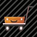 trolley, luggage, moving, vehicle, travel, logistics, transportation