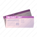 airport, boarding, document, extension, file, ticket, travel icon