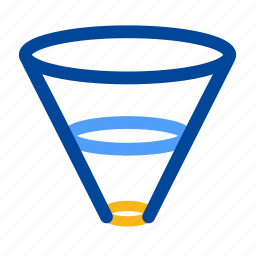 constrain, down, drill, filter, filtering, funnel, narrow icon