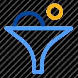constrain, drill, filter, filtering, funnel, narrow, sort icon