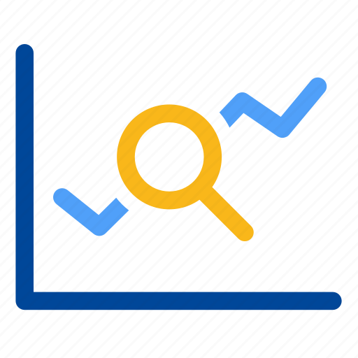 analytics, find, graph, market analysis, overview, search, statistics icon