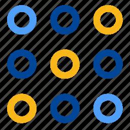 code, codification, dot matrix, dots, format, password, pattern icon