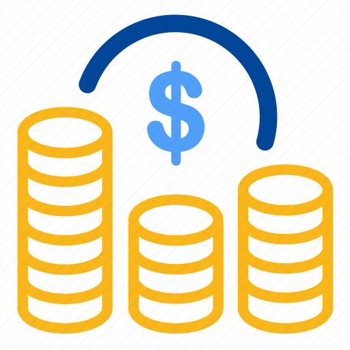 benefit, costs, expenses, finance, fund, money, profit icon