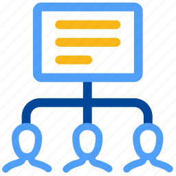 analysis, analytics, business, computing, online, procedure, team icon