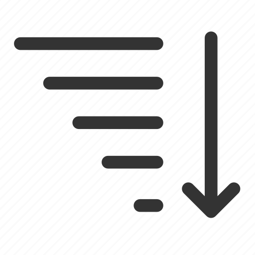 alphabetize, ascending, descending, filter, funnel, sort, sorting icon
